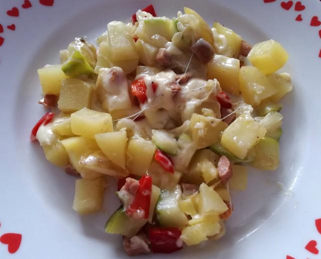 Rychlý recept na zapečené brambory s cuketou