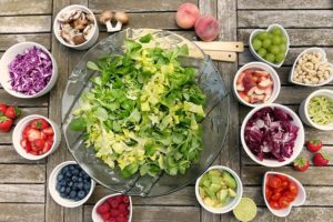 zeleninový salát na svačinu nebo večeři