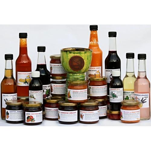 Sklenice zdraví, domácí sirupy z ovoce