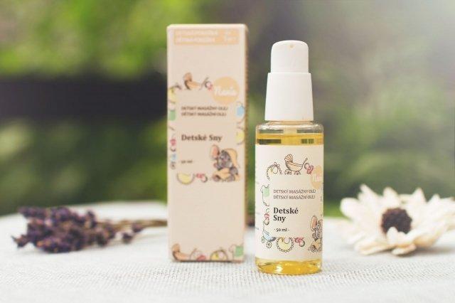 Masážní olej po koupání pro miminka