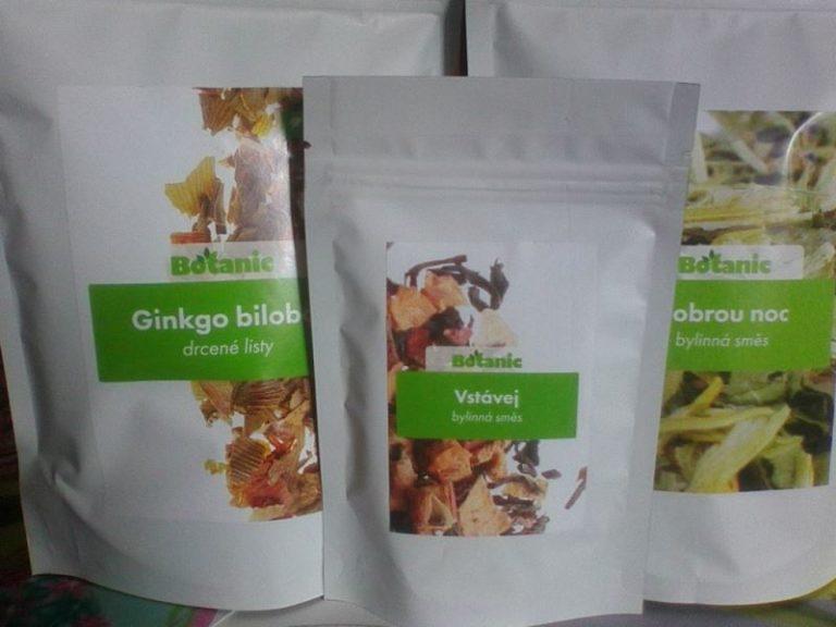 Recenze sypaného čaje Ginkgo biloba z e-shopu Botanic.cz