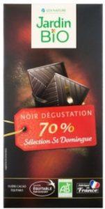 BIO čokoláda hořká 70% JARDIN