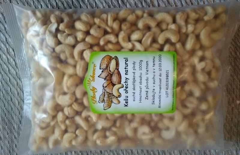 Recenze nákupu kešu ořechů z e-shopu Plody slunce
