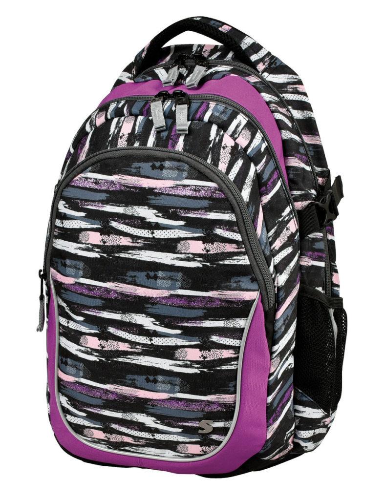Kvalitní, ergonomicky tvarovaný odlehčený studentský batoh